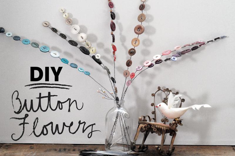 DIY: Button Flowers - JASMINE NORA JONES