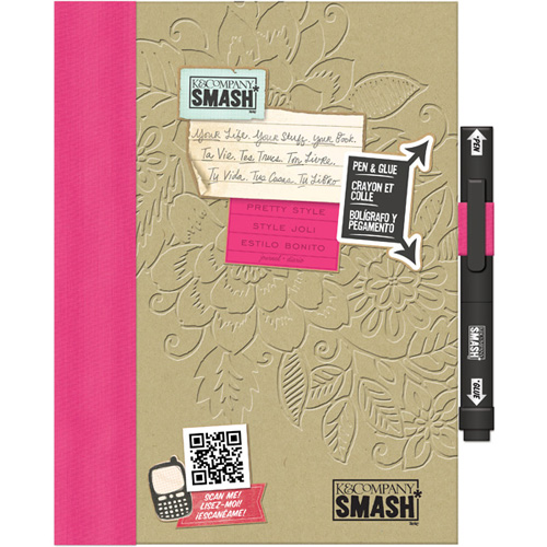 Pink smash book