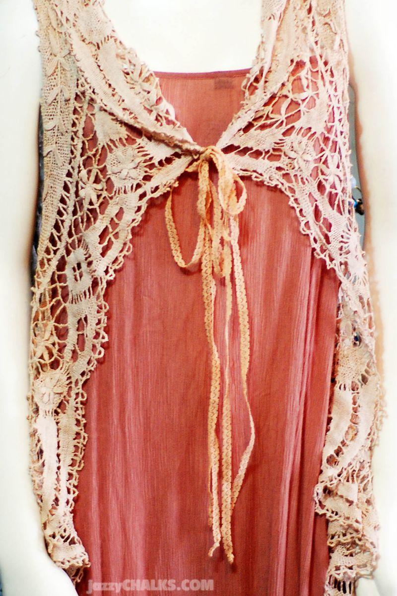 Lace doily vest