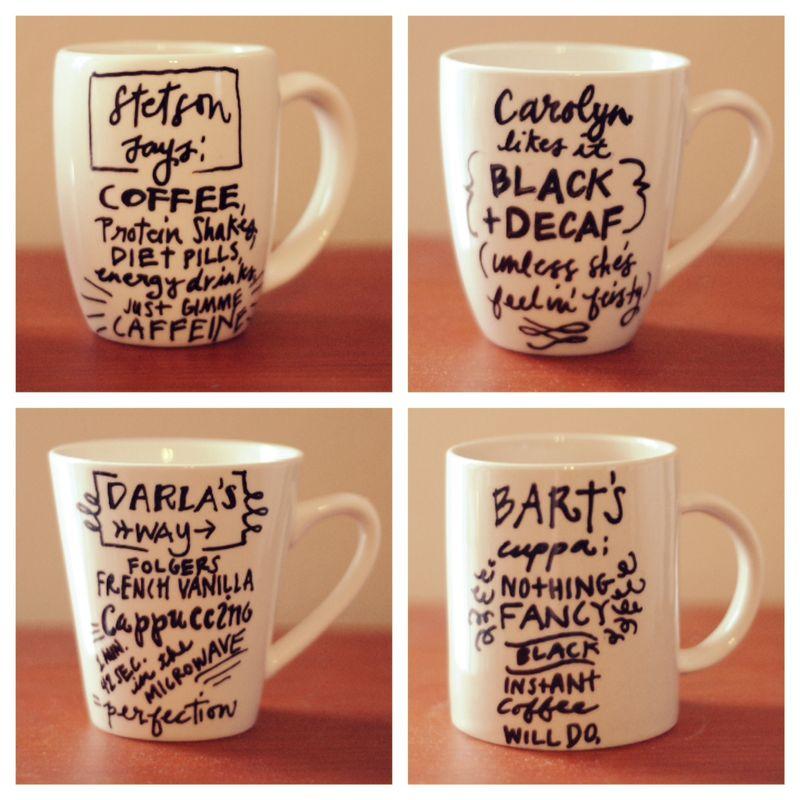 Marker mugs