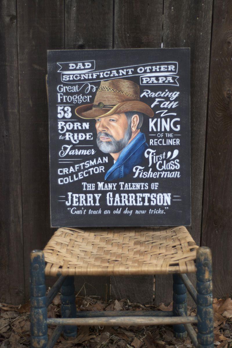 Birthday Chalkboard Father's Day Portrait