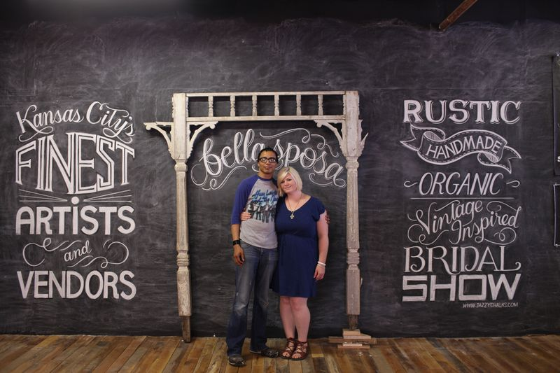chalkboard wall mural photo booth wedding jazzy chalks artist