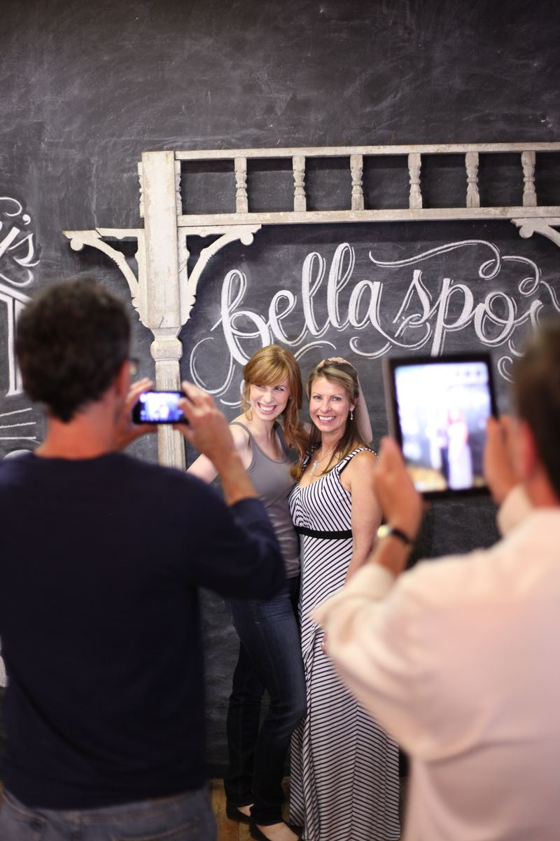 chalk wall photo booth wedding idea pose chalkboard jazzy chalks