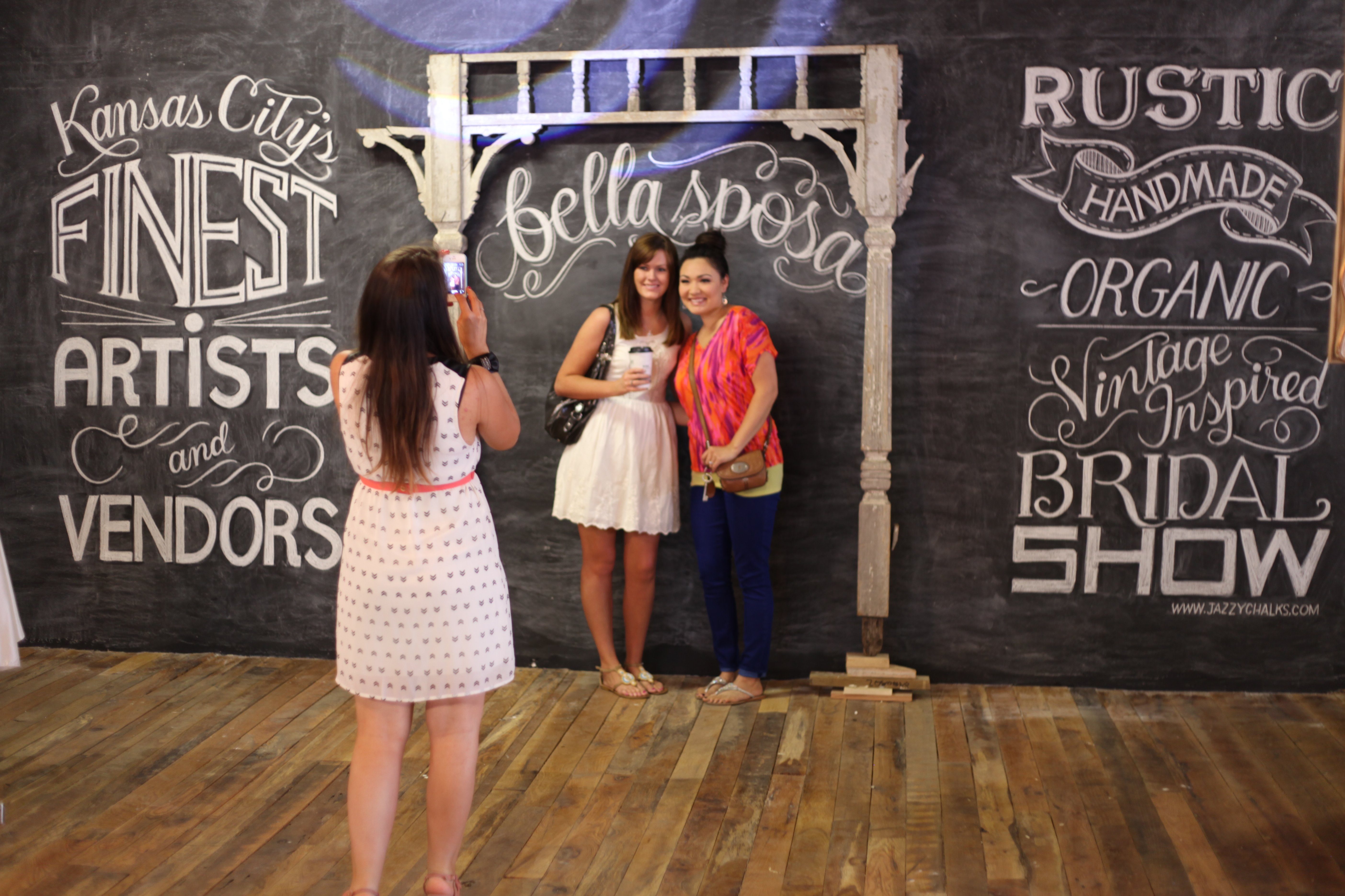 Wedding Backdrop Photo Booth Chalkboard Wall Bella Sposa Vintage Type Design Jazzy Chalks